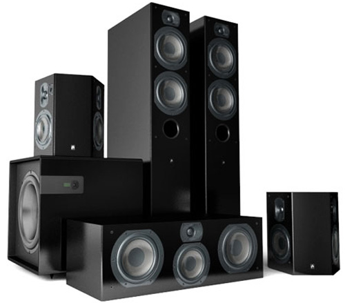 speakers system. room for a speaker anywhere other than at the tv, something you may consider is bar, with multiple speakers in one compact cabinet. system